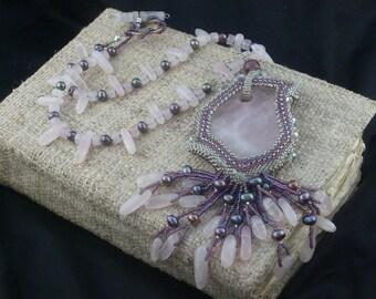 Romantic Rose Quartz Necklace