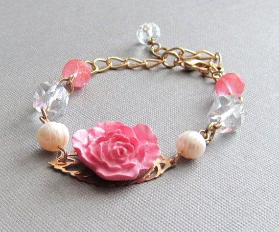 Garden Rose Gold Bracelet
