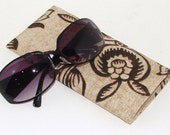 NEW LOW PRICE Tan and Black Sunglasses Case