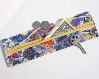 "Money Wrist  Cuff - ""Secret Stash""- ""The Traveler"" ""  hide your cash, key, jewels, health info, in a hidden inside zipper"