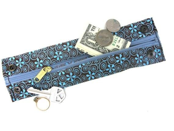 Secret Stash Wrist  Money Cuff - hippie flowers- hide your cash, keys, jewels in a hidden zipper