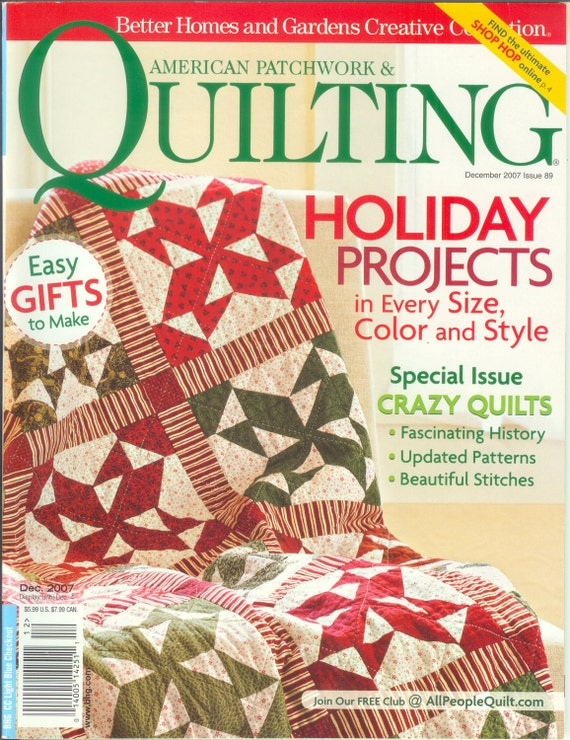 American Patchwork And Quilting Magazine December 2007 By