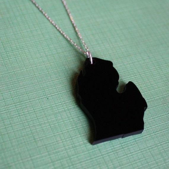Michigan Mitten State Necklace