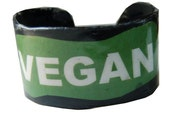 VEGAN Recycled Vinyl Cuff