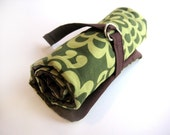 crochet hook organizer - green lotus