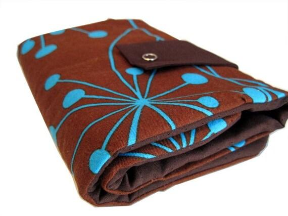 interchangeable knitpicks organizer - brown and blue coriander