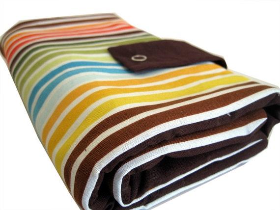 circular knitting needle organizer - bright stripes