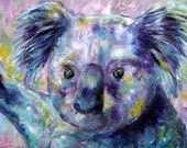 Koala Bear, Art Print of Acrylic Painting