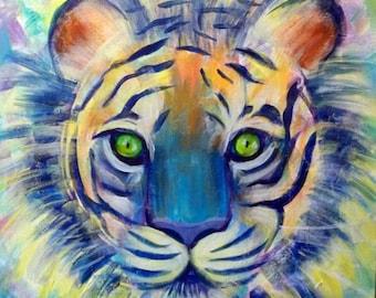 Tiger, Art Print of Acrylic Painting