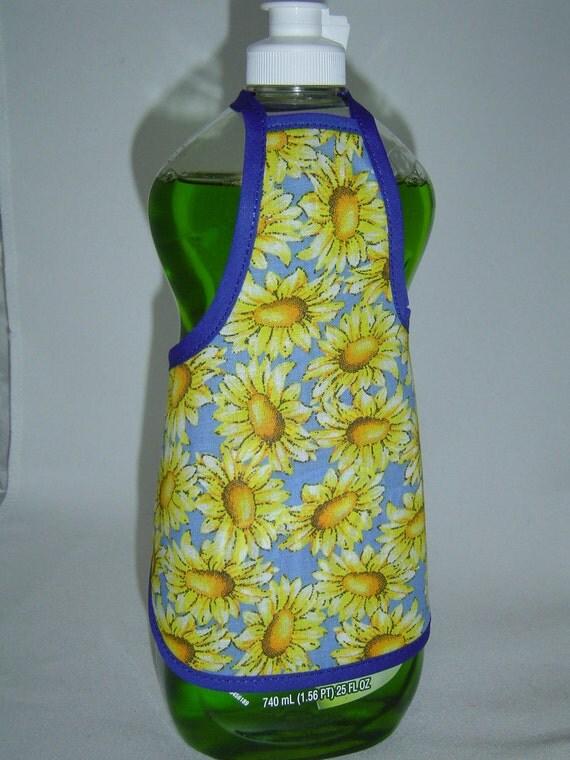 Summer Flower Garden Soap Bottle Apron Cover Dress Decor Lg
