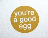 you're a good egg-single folded card