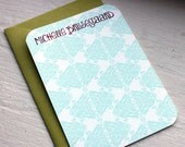 Henna Brocade Personalized Notes-set of 10