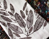 Feather Screen-Printed Dishtowels-set of 2