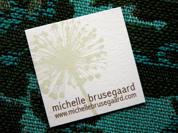 Beigish Floral Calling Cards-set of 50