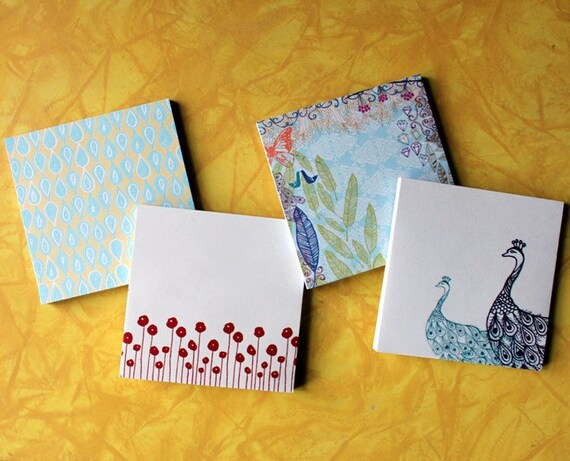 Sticky Notes-4 pads in 4 designs
