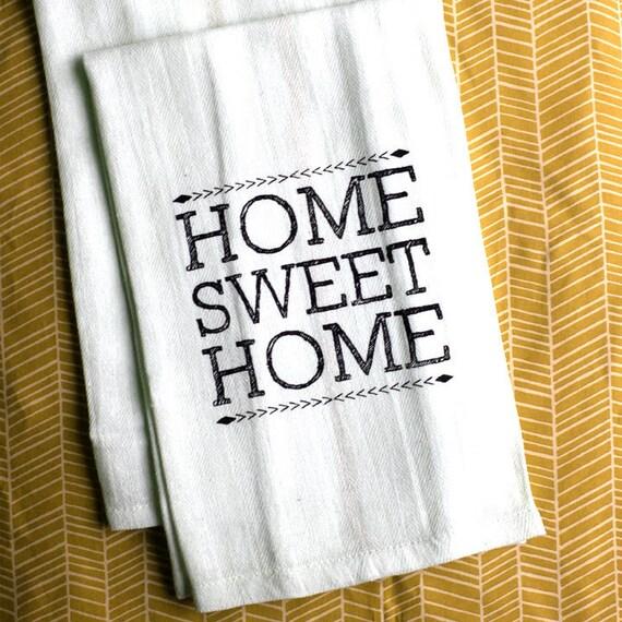 Set of 2-Screen-Printed Dishtowels - Home Sweet Home