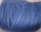 SALE HANDCARDED SUPERWASH MERINO WOOL BATTS Spinning Fiber BLUE