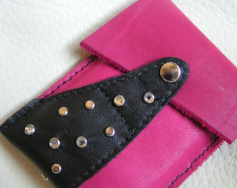 Pink, black and bling gadget case