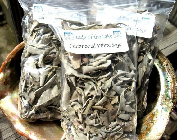 One Ounce WHITE SAGE Dried Loose Ceremonial Herb mmmm