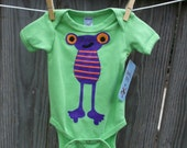 Monster or Alien Lime Bodysuit 3-6 months