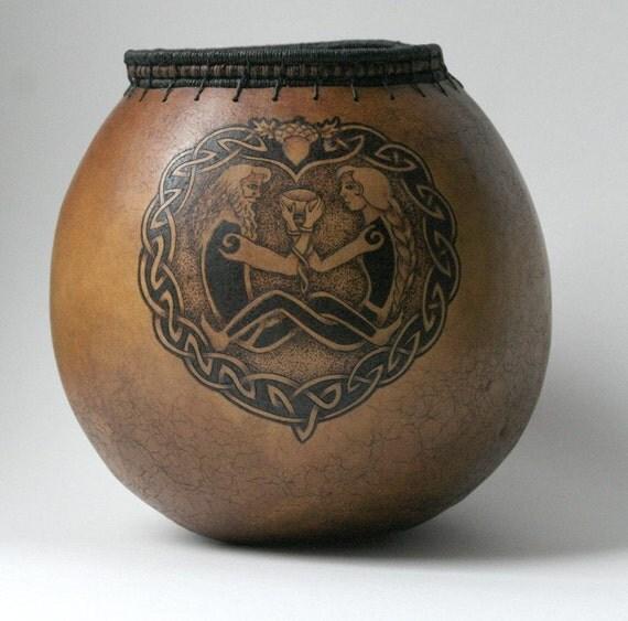 Blessed Union Celtic Wedding Gourd Bowl