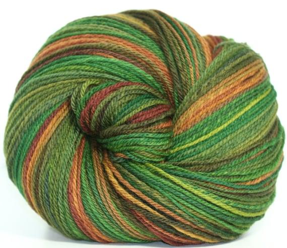 Handspun - Hand-dyed  Merino yarn - 3 ply and 318 yards