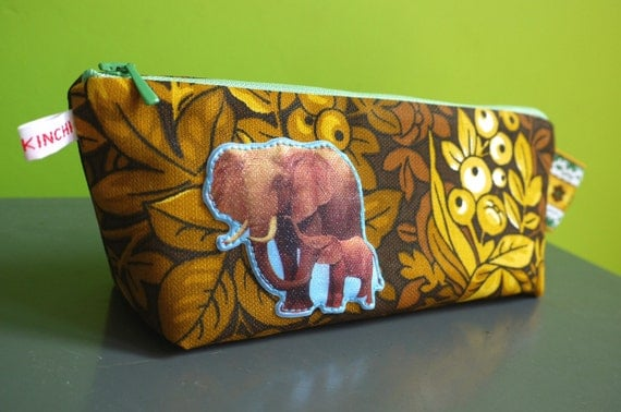 2nd and last one: kinchi elephants pencil case, eco friendly for boy girl or you