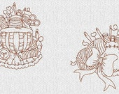 Sewing Craft Room Redwork Machine Embroidery Designs