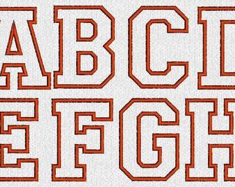 INSTANT DOWNLOAD Applique Alphabet Monogram Machine Embroidery Designs