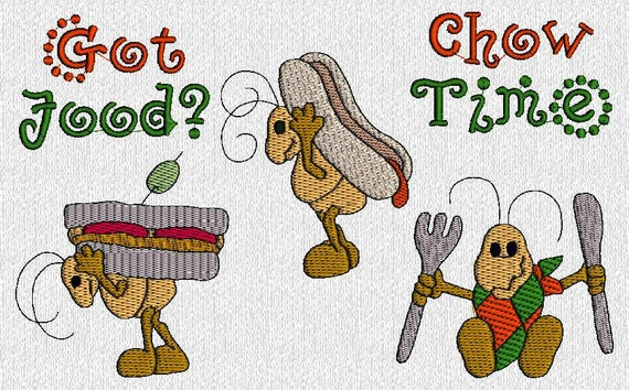 INSTANT DOWNLOAD Summer Fourth Of July Picnic Ants Machine Embroidery Designs