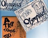 3 Tiki zine set, Olympics and Zoo visit