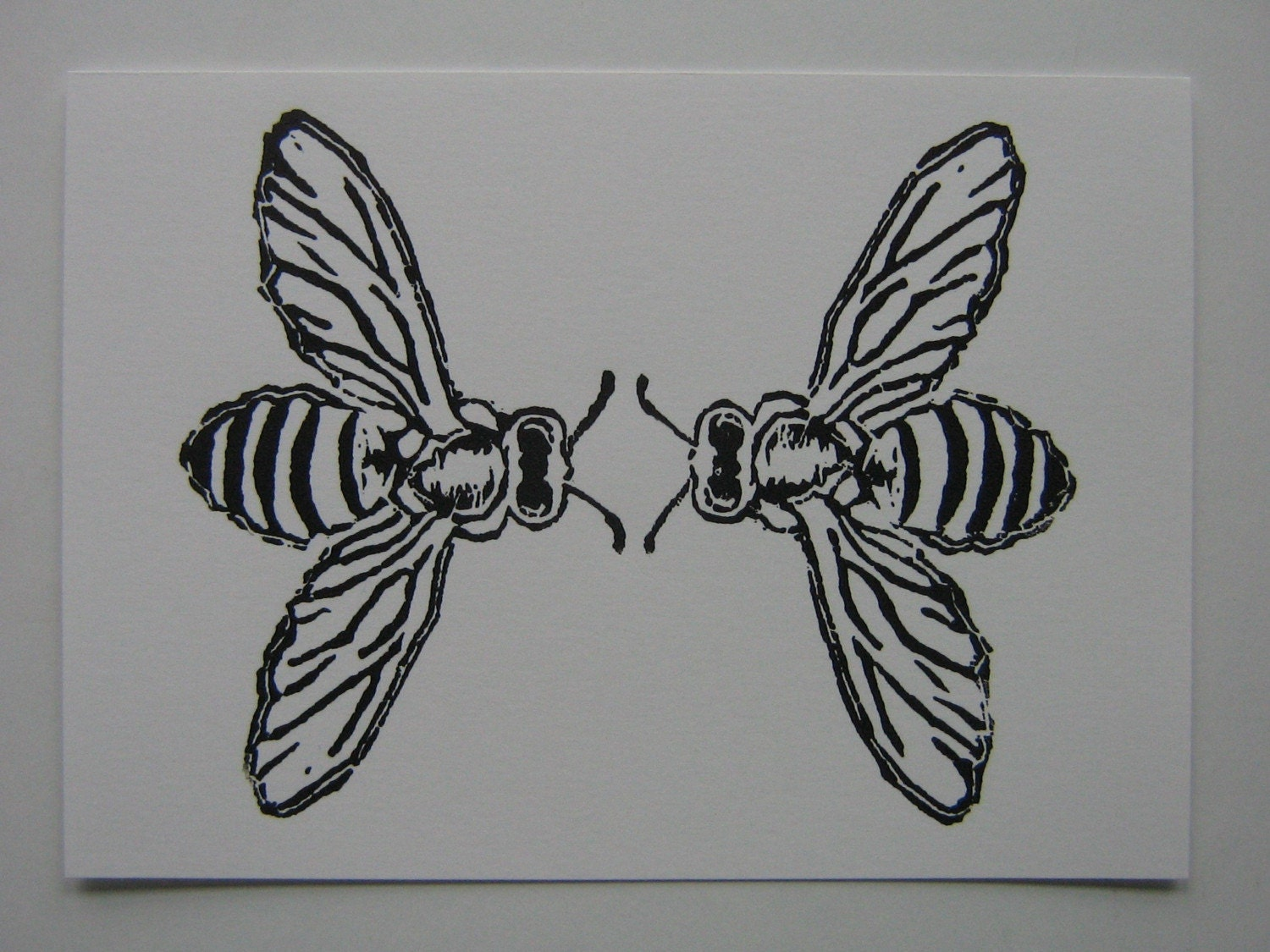 Linoleum Print Designs Honey bees linoleum bl...