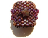 Jasper Star and Garnet Beaded Bead