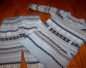 Fair Isle Sweater and Longies 12-18mo