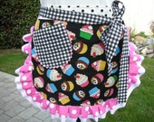 Aprons - Womens Half Aprons - My Cupcake Party - Apron