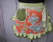 Aprons Amy Butlers Aprons - Royal Garden Apron Amy Butler Belle Fabric Handmade Womens Aprons - Annies Attic Aprons - AnniesAttic Aprons