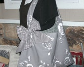 Handbag - WomensTote Bag - Book Bag - Handmade Canvas Bag - Market Bag - Canvas Bag - Library Bag