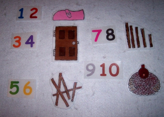 One two buckle my shoes flannel board felt by for 1 2 buckle my shoe 3 4 shut the door