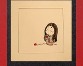 DONATION, Heart for Japan Original Illustration 4x4, Limited edition