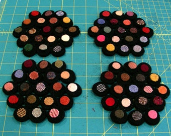 Penny Mug Rug Kit - 4 Coasters - Hit and Miss Colour Collection