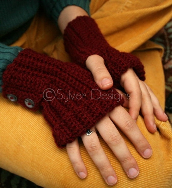 Adult Ribbed Mitts (crochet pattern)