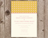 Basketweave Wedding Invitation Collection