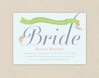 Bridal Shower Invitations: Bridal Banner