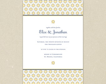 Wedding Invitations: Sunny Buttercup - Classic Yellow and Blue Wedding Collection
