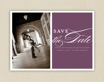 Elegant Photo Save the Date Postcard