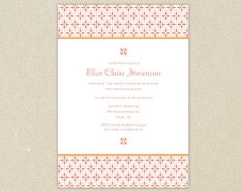 Bridal Shower Invitation: Summery Pattern