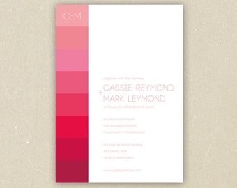 Wedding Invitations: Ombre Collection
