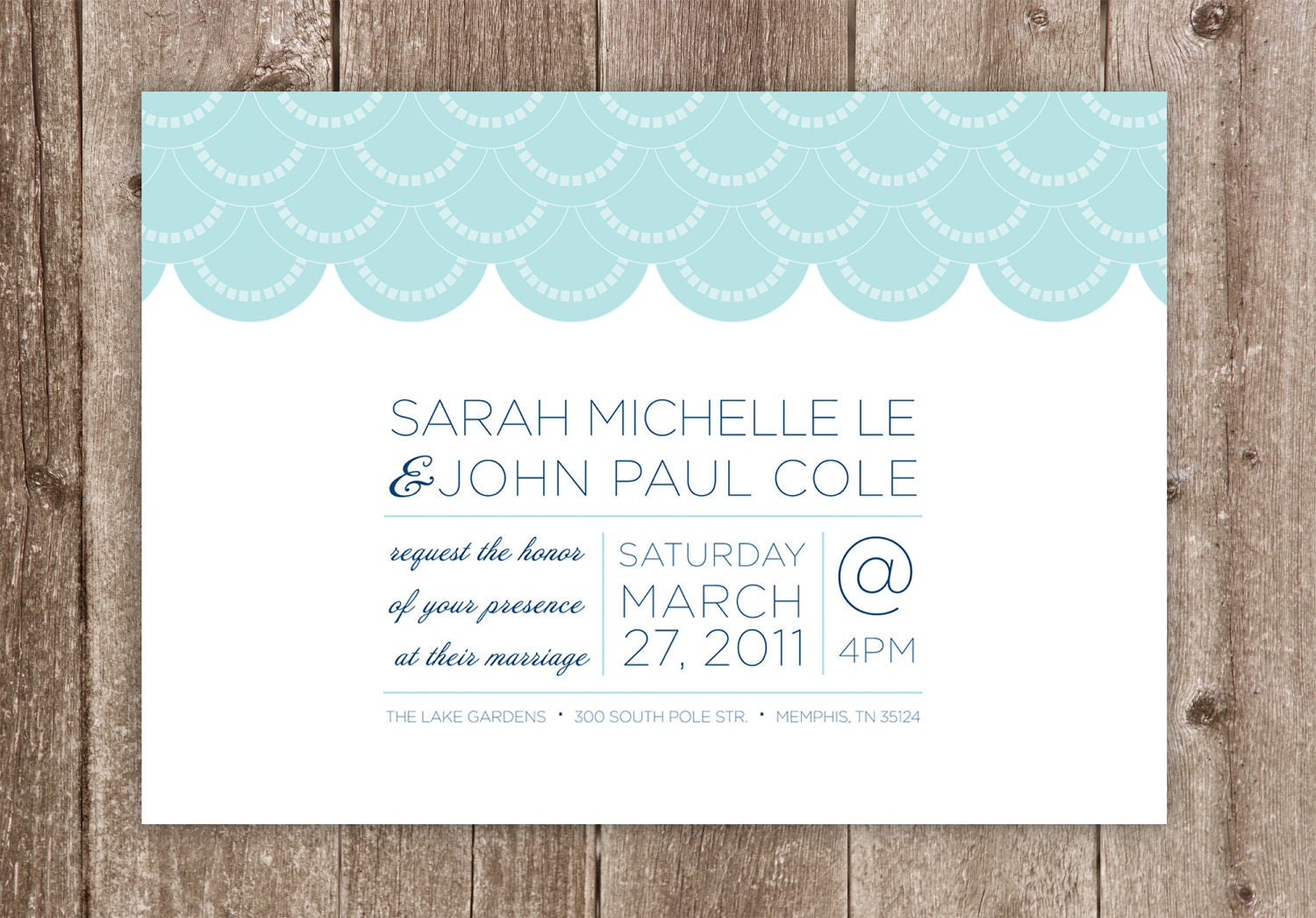 Wedding Invitations Simple Scallops Wedding Collection
