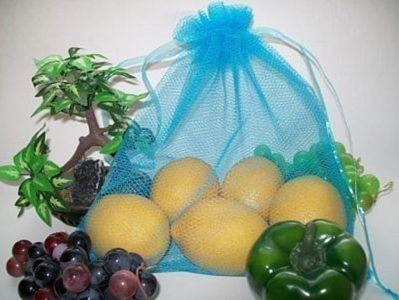 REUSABLE PRODUCE BAGS....4 TURQUOISE