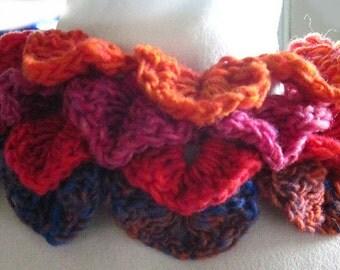 Petal Leaf Collar and Cuffs Crochet Pattern